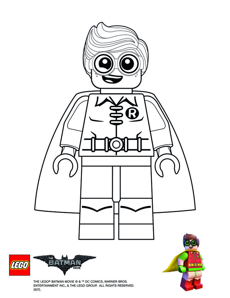Coloring Page Robin Batman Coloring Pages Lego Coloring Pages