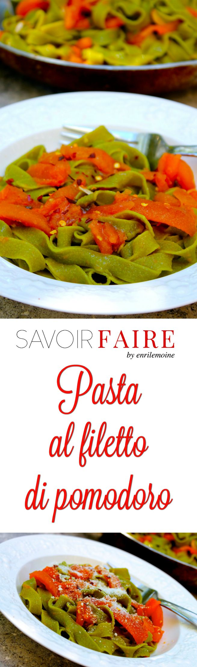 When less is more, this pasta al filetto di pomodoro (with tomato and garlic filetes and basil), proves that the simpler the better. Make dinner in less than 20 minutes by clicking and getting the recipe of this classic of the Italian cuisine. via @enrilemoine