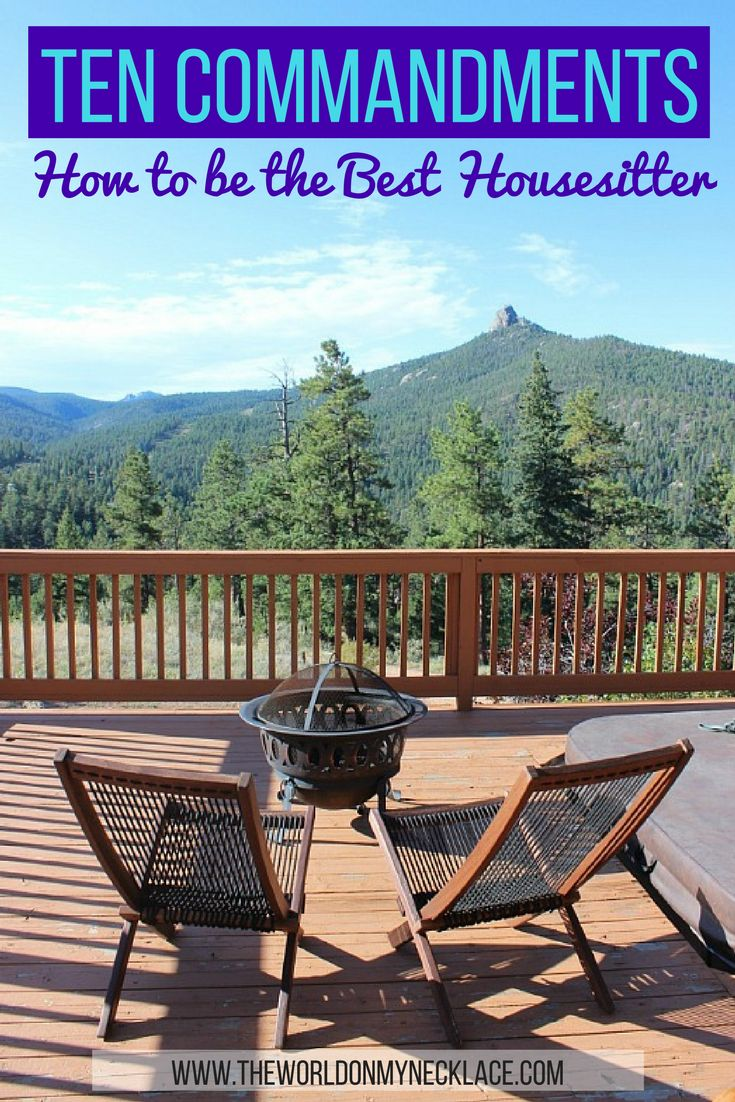 Have you ever wondered what makes a great housesitter? After 20+ houesits in 3 countries and 5 states, with every housesit giving me 5 star reviews - I think I have a pretty good idea. Click through to read my Ten Commandments of Housesitting: How to be the Best Housesitter you can be.   The World on my Necklace #housesitting #housesit #travelguide #traveltips