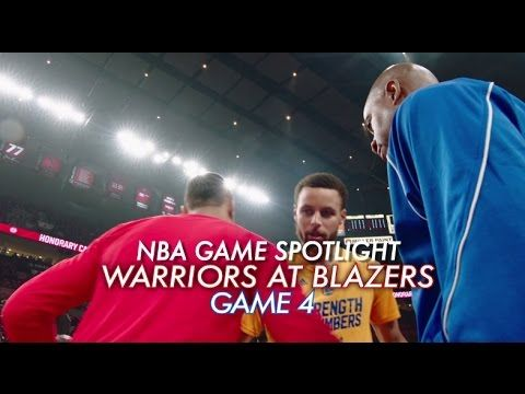 NBA Game Spotlight: Warriors at Trail Blazers Game 4 - YouTube
