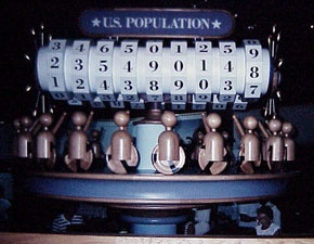 The population counter at the Great American Census Quiz (at Computer Central)