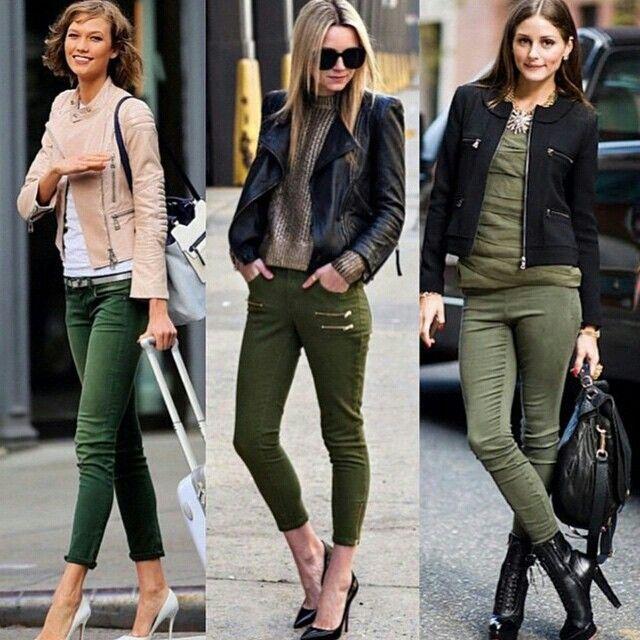 Pantslones verde oliva. https://instagram.com/p/1PeI5yxMPX/
