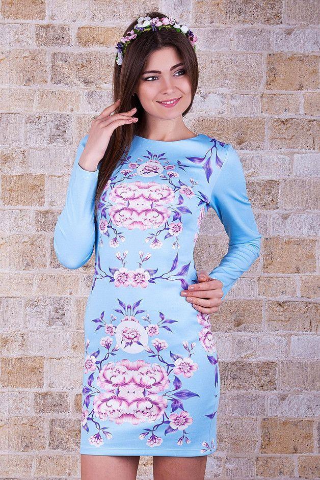 Sukienka Flower Dresses Neck Dress High Neck Dress