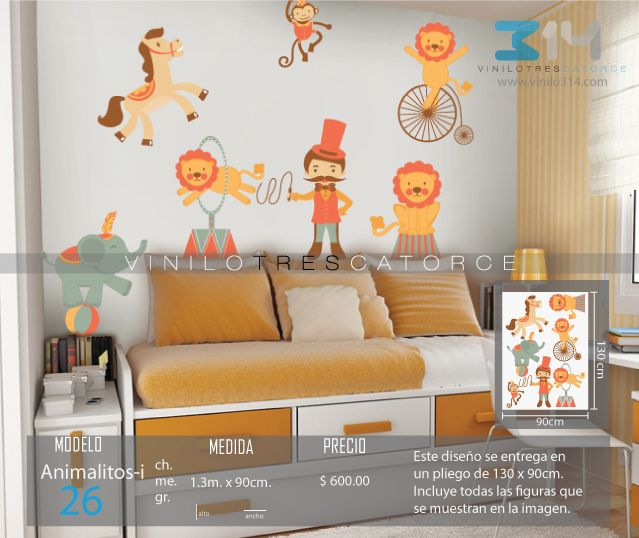Vinilos decorativos infantiles sticker decorativo for Calcomanias para pared infantiles