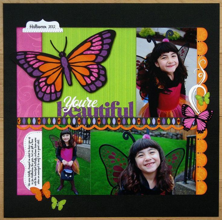 A Lori Whitlock Butterfly Fairy Halloween Layout - Scrapbook.com