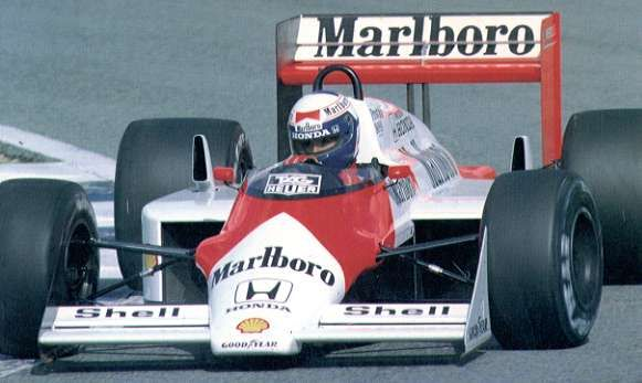 McLaren MP4-3 test car from 1987- the 1987 Chassis with the Honda V6 turbo from the MP4-4