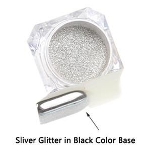 1g/box Shiny Mirror Glitter Nail Powder Gold Sliver Glitter Chameleon Powder Nail Art Chrome