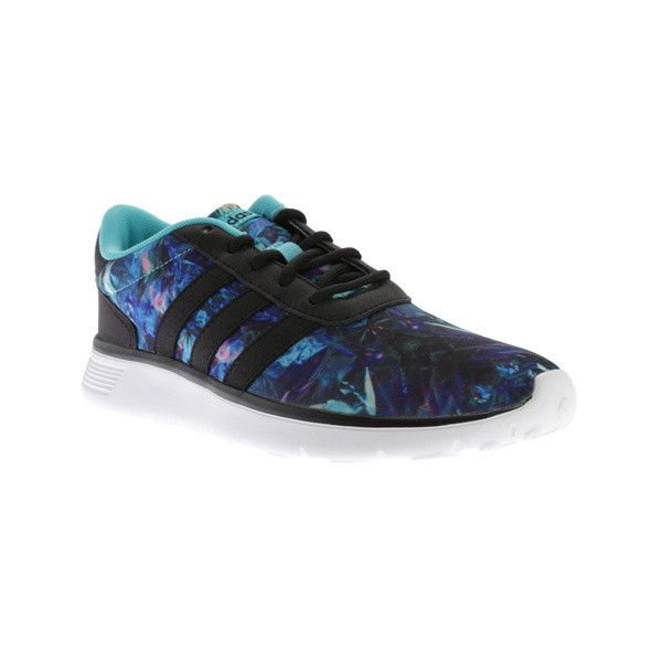Women's adidas NEO Lite Racer Sneaker (180 BRL) ❤ liked on Polyvore featuring shoes, athletic, running shoes, honey comb, tie dye shoes, cross training shoes, cocktail shoes and lightweight shoes