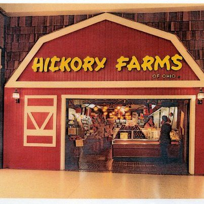 1970's Hickory Farms Store in your friendly neighborhood mall!  Before the terrorists stopped the fun!