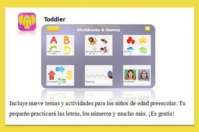 Toddler brinda actividades para practicar las letras, números, entre otras cosas, a niños en edad preescolar