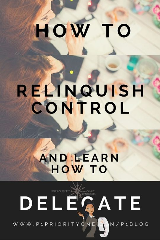 So,you're a control freak, got it, me too!,However,learning to relinquishcontrol will only make your life easier!  But how doyou actuallydoto it?...