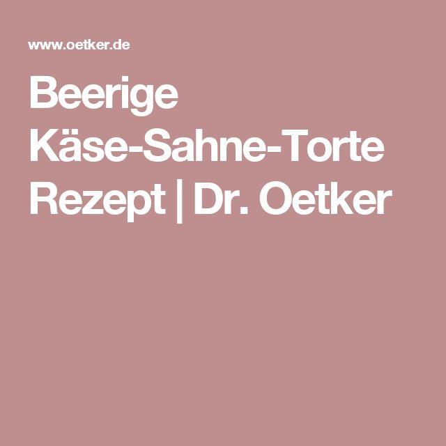 Beerige Käse-Sahne-Torte Rezept | Dr. Oetker
