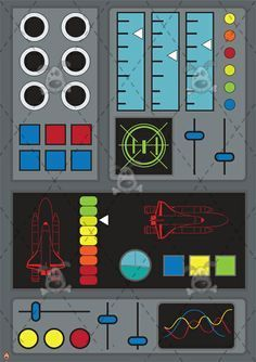 Rocket control panel | space party | Pinterest | Rockets