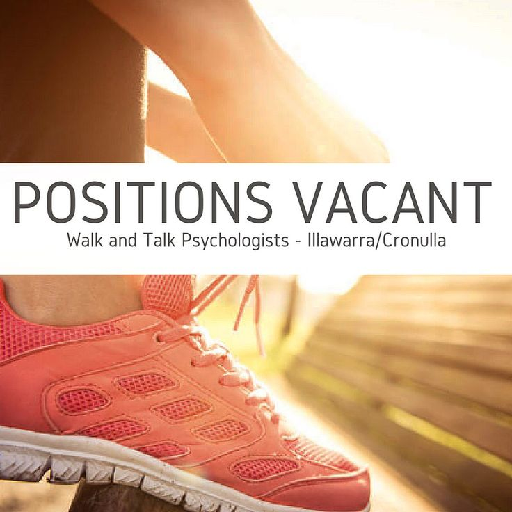 We are looking for our next walking psychologist! If you are passionate about psychology, enjoy walking and the outdoors, then this job is for you! Vacancy link: https://www.seek.com.au/job/34217442?type=promoted&userqueryid=43ab8b67c23f0cab171bdbd801ffb695-3291340&utm_content=bufferabe86&utm_medium=social&utm_source=pinterest.com&utm_campaign=buffer