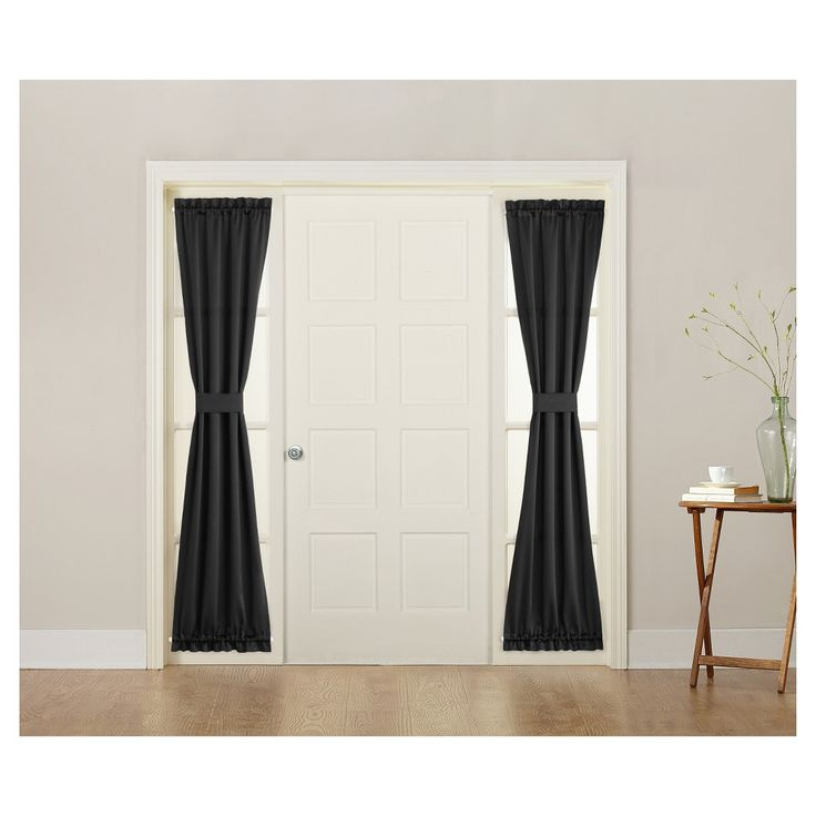 Sun Zero Seymour Energy Efficient Sidelight Curtain Panel Black ...