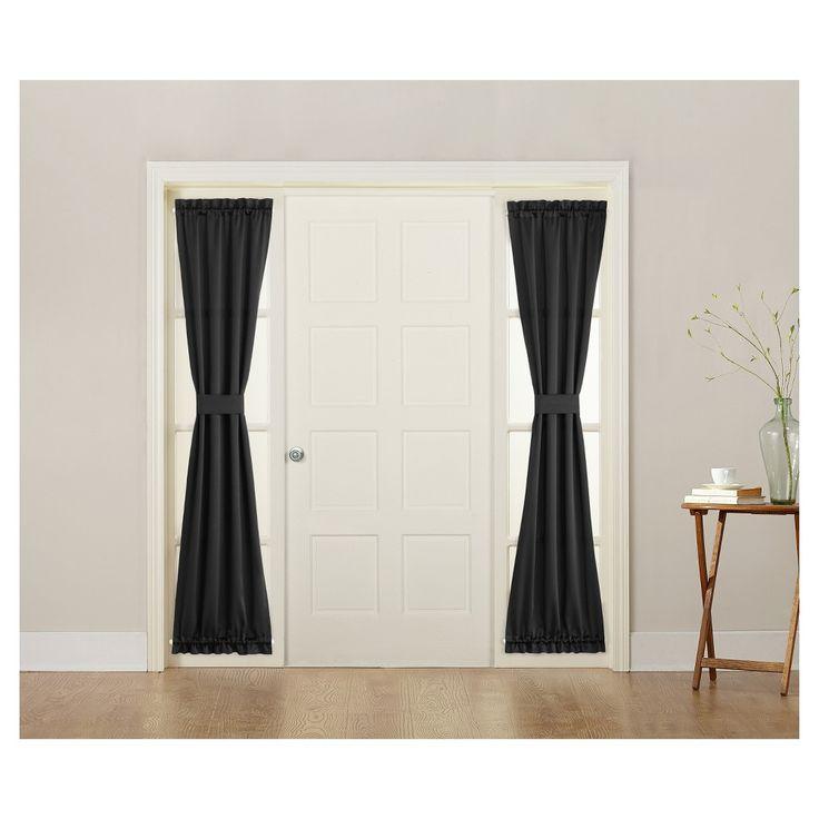 sun zero seymour energy efficient sidelight curtain panel black