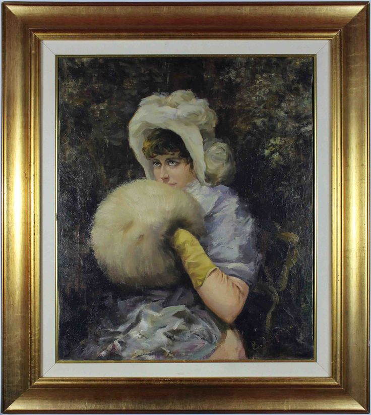 A lady with a muff. Rumor has it that muffs were not just a fancy hand warmer. In Russia, many women carried handguns in them. #lady #muff #fashion