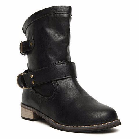 13.85 - Laconic Women's Ankle Boots With Buckle More WHOLESALE SHOES at Wholesalerz.com