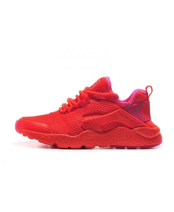 huge discount 7ac65 8ae41 Nike Air Huarache Ultra Breathe Red Pink Trainer   Shoes in 2019   Womens  nike trainers, Nike air huarache ultra, Nike air max