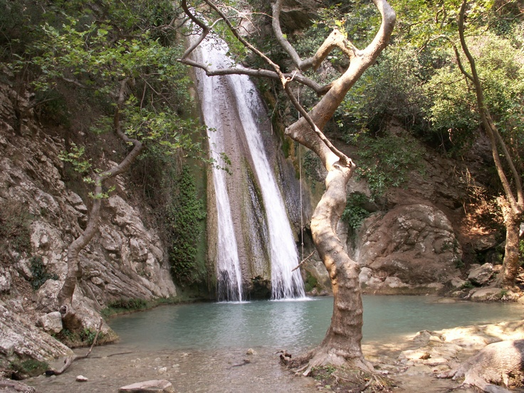 "Neda Waterfalls in Messinia Peloponnese Greece. These are places that sheltered extraordinary civilizations, glorious monuments and sanctuaries, battles and heroic feats "" fertile and hospitable places, beautified by human love and toil. Neda and its villages - true gems of the Greek nature - maintain a rare, exotic beauty and give a new meaning to the words ""recreation"" and ""relaxation"". It is near Kalo Nero Beach, at Kyparissia.  www.iridaresort.gr"