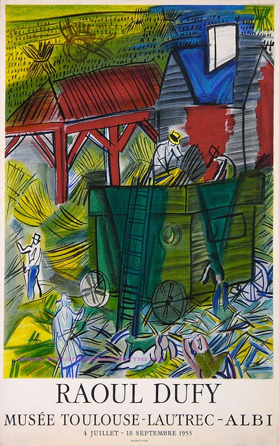 Raoul Dufy 1955 musee Toulouse Lautrec Albi  by estampemoderne.fr, via Flickr