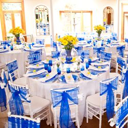 Stunning blue & yellow jewel-toned South African wedding at Shepstone Gardens.