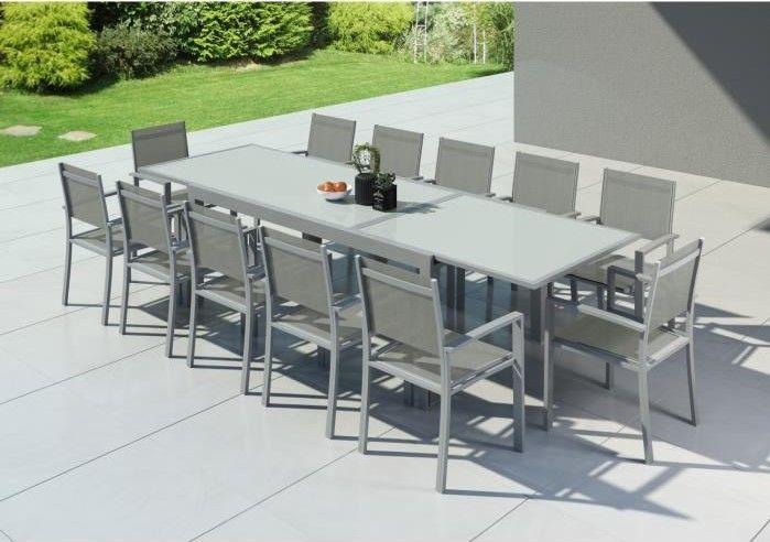 HARA XXL Table de jardin extensible aluminium pas cher ...
