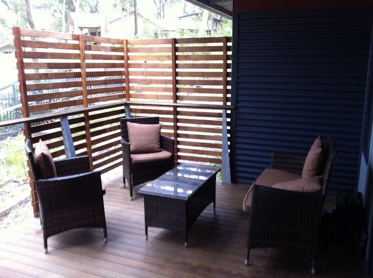 relax on the balcony at Wallarah Lodge