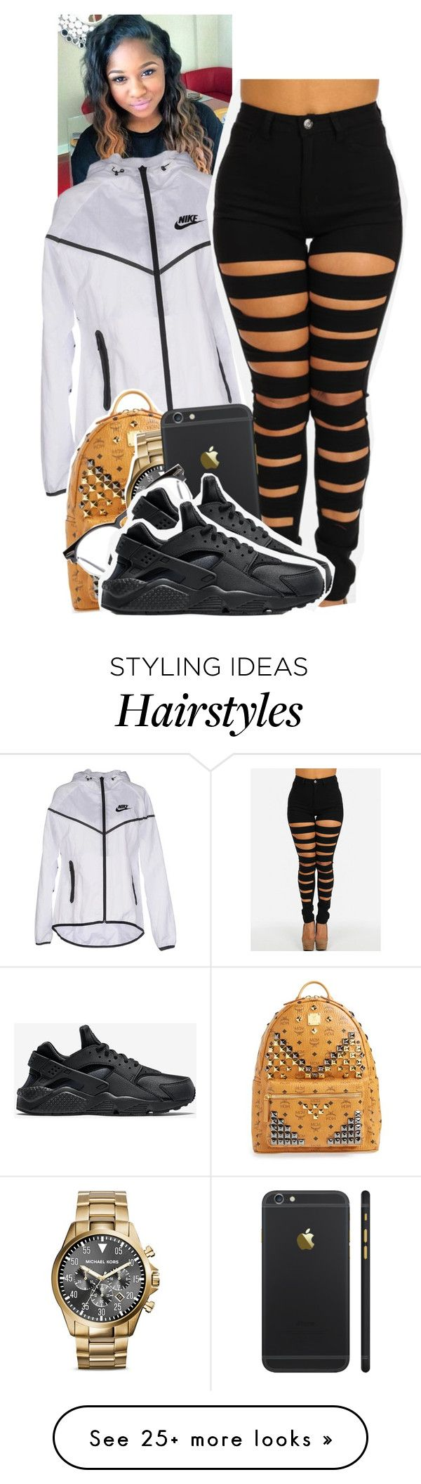 """""""Untitled #1262"""" by tonibalogni on Polyvore featuring NIKE, MCM, Michael Kors and Spitfire"""