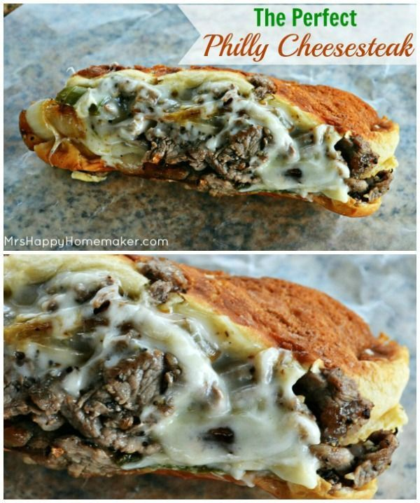 The Perfect Restaurant Quality Philly Cheesesteak - only made easily at home!  SO GOOD!