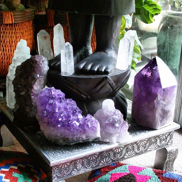Crystal Decor For Home: Crystals, Amethyst, Selenite, Buddha