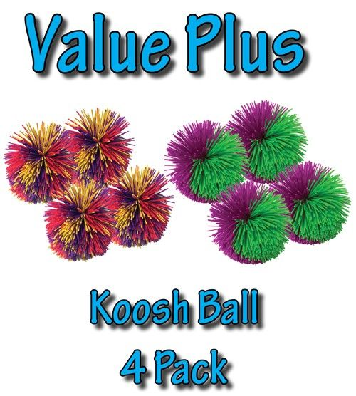 SensoryTools.net Australia - Koosh Ball - Value Plus - (4 Pack)
