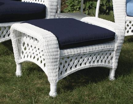 white wicker ottoman furniture 2