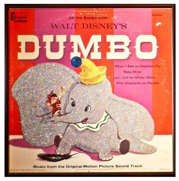 Glittered 'Dumbo' Album - eclectic - Sports And Game Room Memorabilia - mmm designs