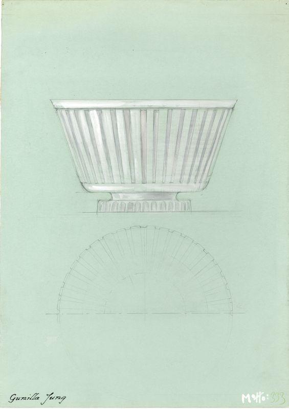 Lasiesineen piirustus vuodelta 1937, taitelija Gunilla Jung.  #gunilljung #glass #design #glassdesign #finnishdesign