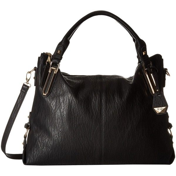 Jessica Simpson Ryanne Top Zip Tote (Black) Tote Handbags ($86) ❤ liked on Polyvore featuring bags, handbags, tote bags, black, zip tote, zippered tote bag, strap purse, zip top handbags and jessica simpson handbags