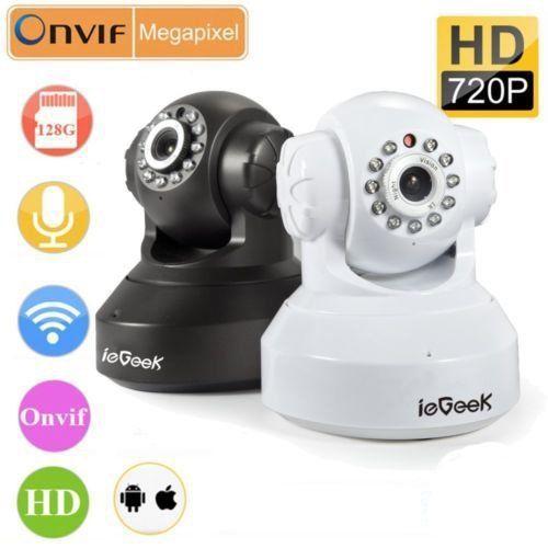 IeGeek HD Wireless WLAN IP Kamera CCTV Überwachungskamera H.264 IR Nachtsicht