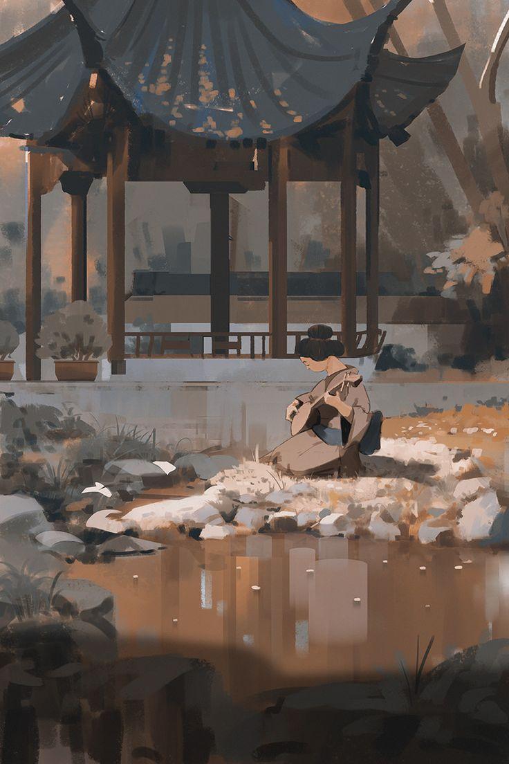 Orange, Atey Ghailan on ArtStation at https://www.artstation.com/artwork/0O3ve