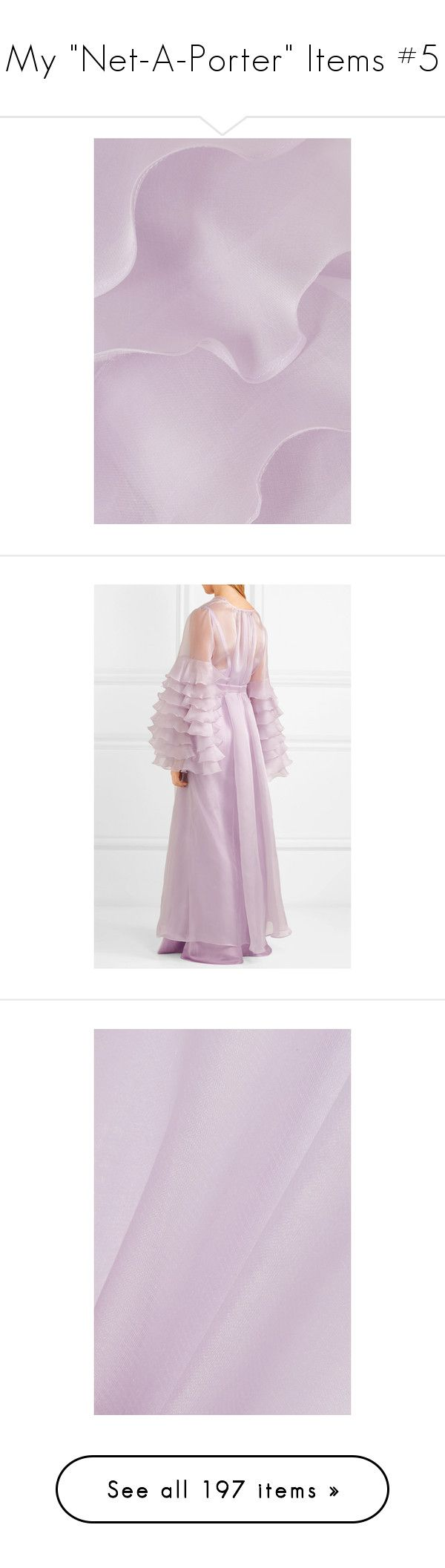 """My ""Net-A-Porter"" Items #5"" by iamasunshine ❤ liked on Polyvore featuring intimates, robes, transparent robe, rosamosario, sheer dressing gown, dressing gown, sheer robe, ruffle robe, sash belt and bath robes"
