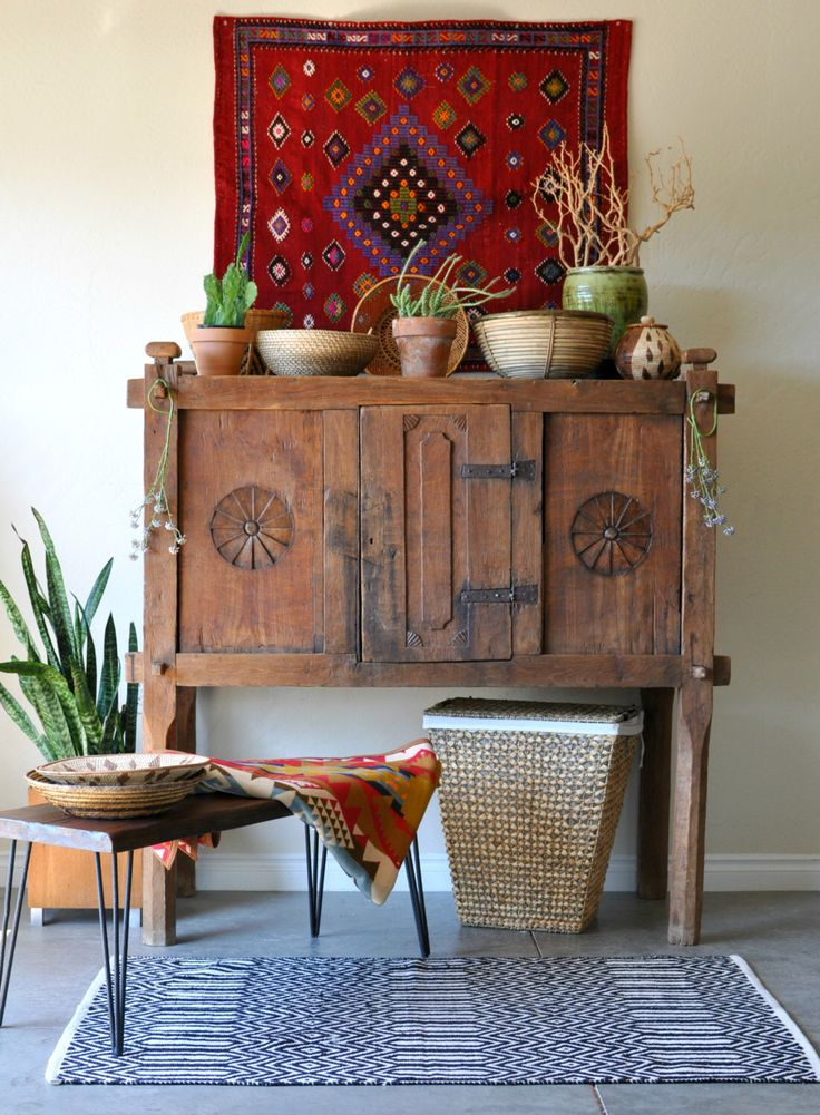 SOLD * Southwestern Rancher's 19th c. Tack & Saddle Cabinet/Rustic California Boho/Rustic Hand Carved Sideboard/Primitive New Mexico Hutch by EuroFair on Etsy https://www.etsy.com/listing/515415259/sold-southwestern-ranchers-19th-c-tack