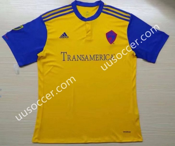 2017-18 Colorado Rapids Away Yellow Thailand Soccer jersey AAA