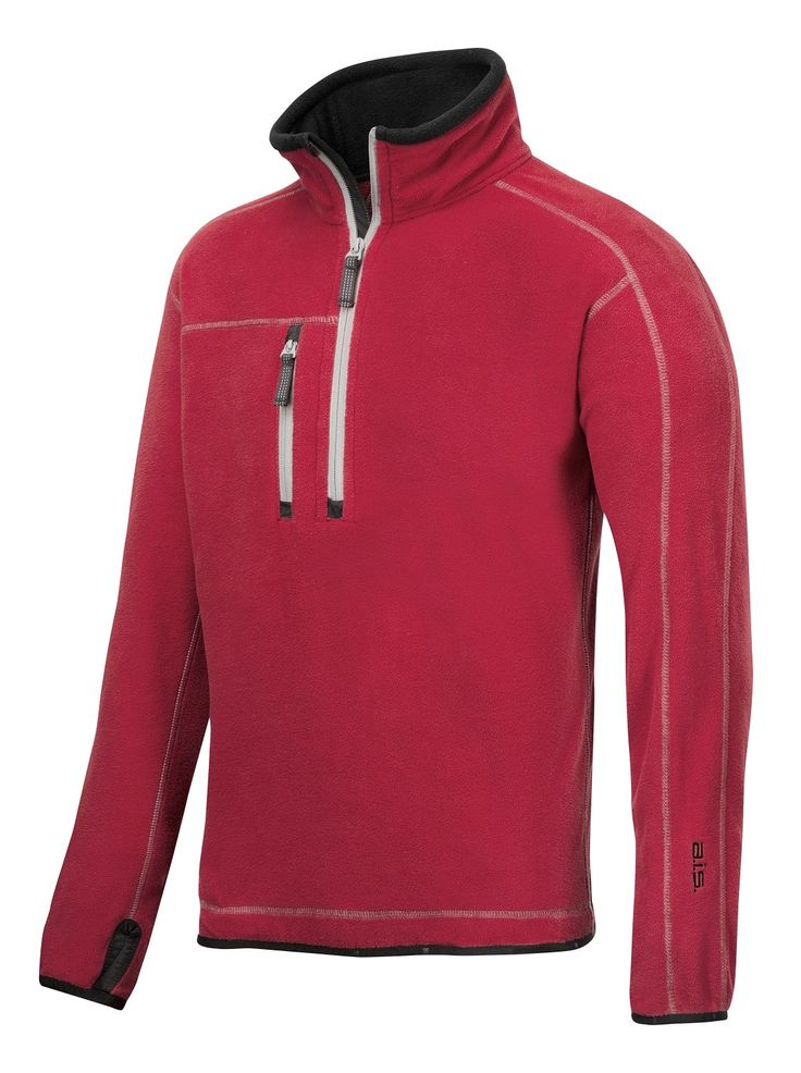 This #pullover is available in four different colors and will keep you warm in the winter. Use it as a second layer for those chilly days and enjoy a super soft fleece feel.