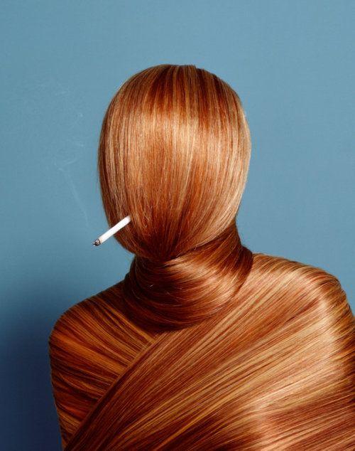 Smoke. Hair.