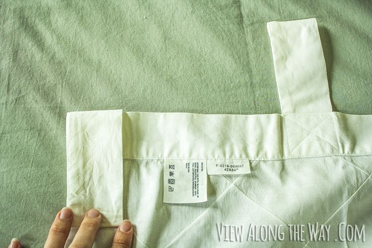Convert tab top curtains to back-tabs. Just fold down and sew along existing stitch line.