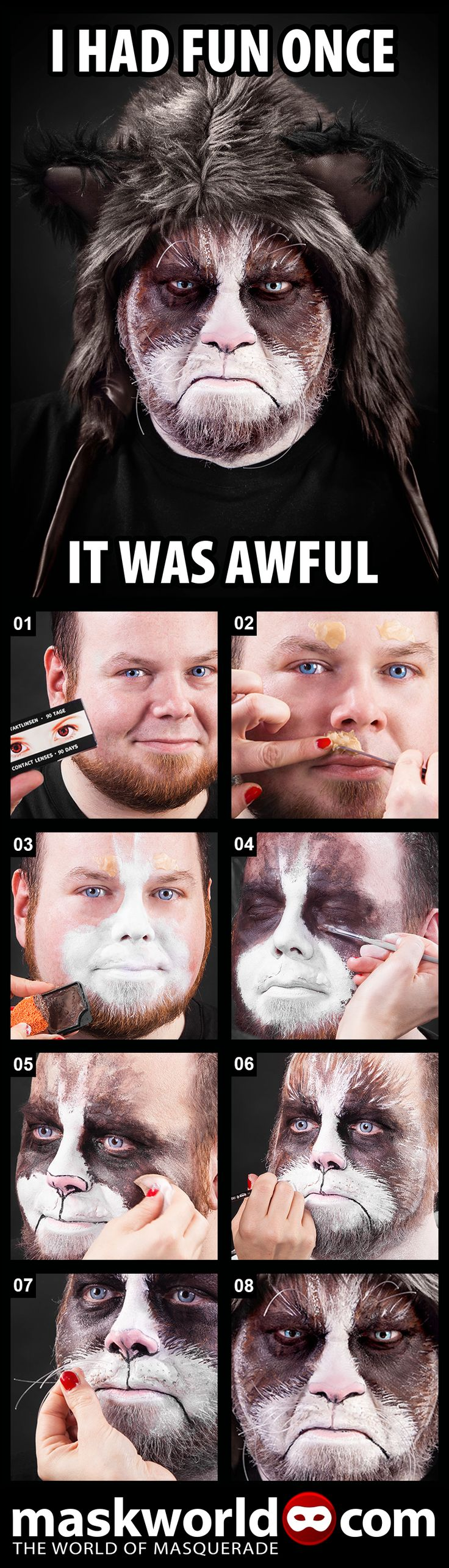 Grumpy Cat Make-up How-to