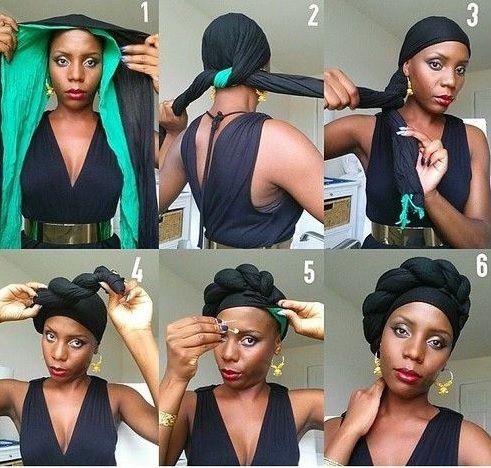 tuto foulard turban                                                                                                                                                      Plus