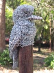 Bird sculpture made from chicken wire