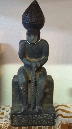 Circa 1885 Kafiristan wooden carved idol.