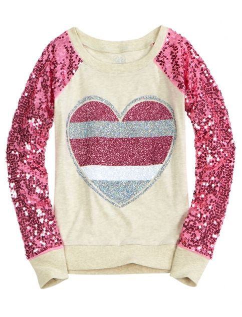 Sequin Sleeve Knit Sweatshirt | Girls Sweatshirts Clothes | Shop Justice