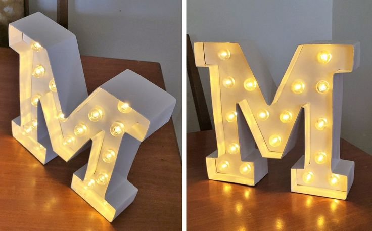 Alphabet Marquee Letter Lights